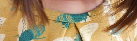 raglan sleeve dress by hamster and the bee
