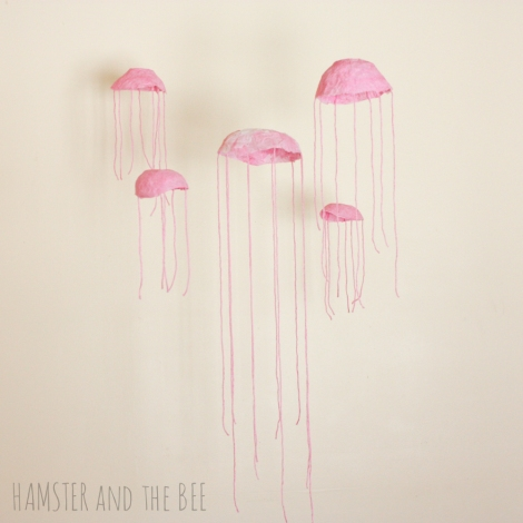 jellyfish mobile by hamster and the bee